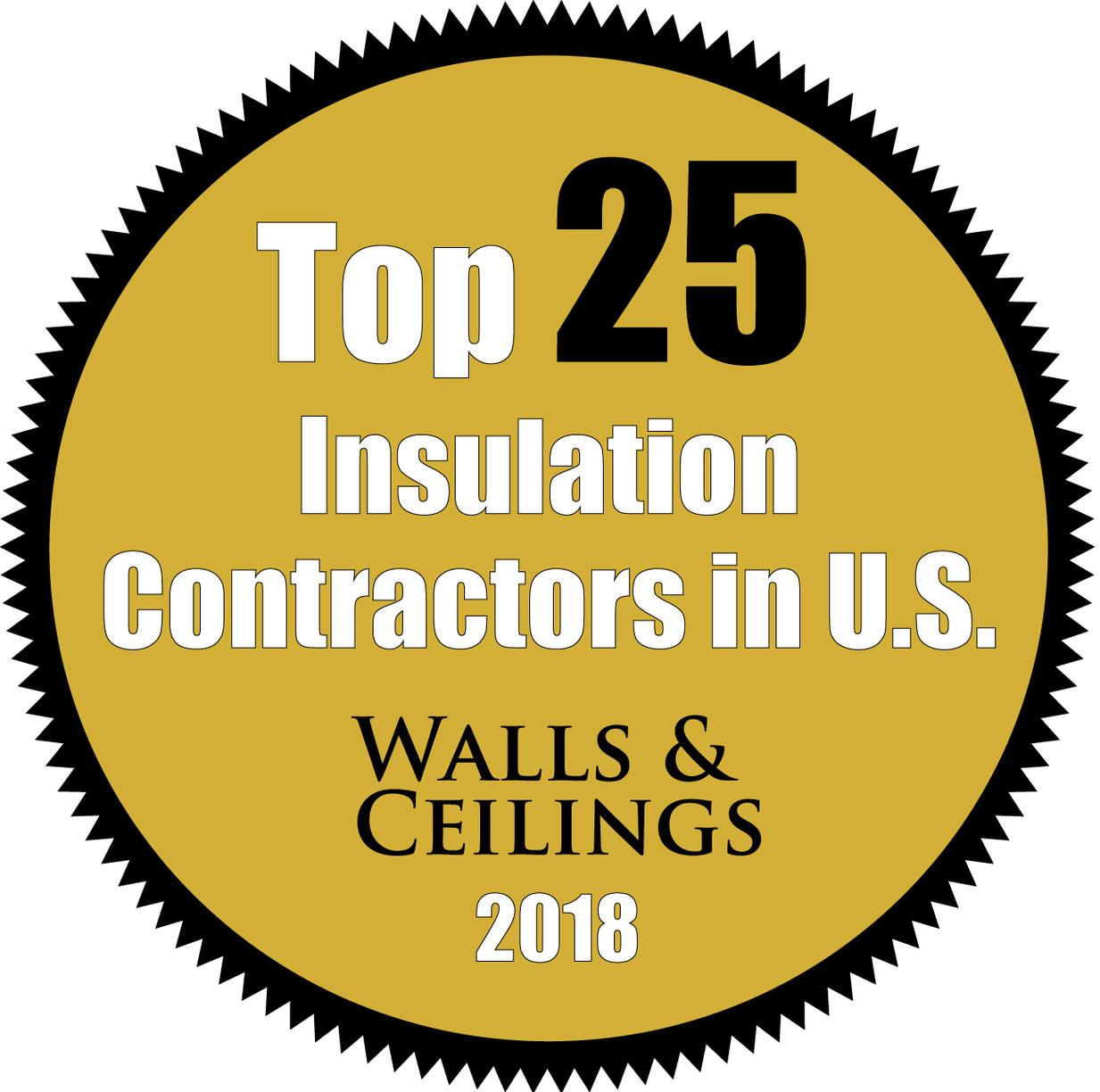 Top 25 Insulation Contractor in The U.S. - Walls & Ceilings Magazine 2018