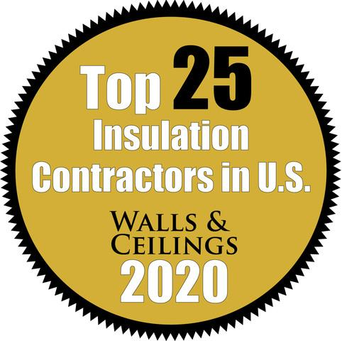 2020 Top 25 Insulation Contractor - Walls & Ceilings Magazine