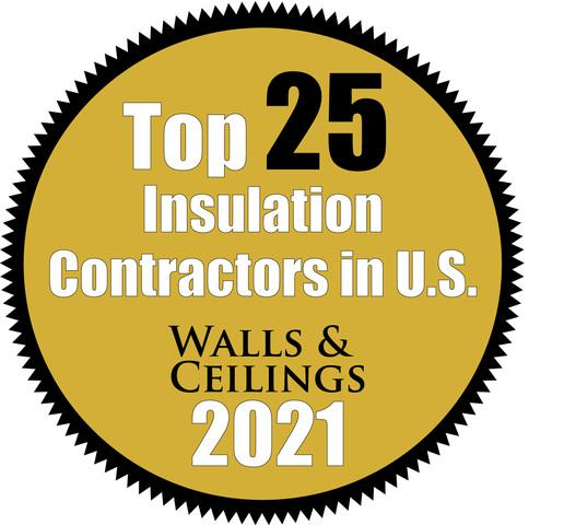 Walls & Ceilings Top 25 Insulation Contractors 2021