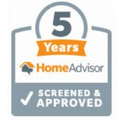 5 Years of Being Screened and Approved by HomeAdvisor