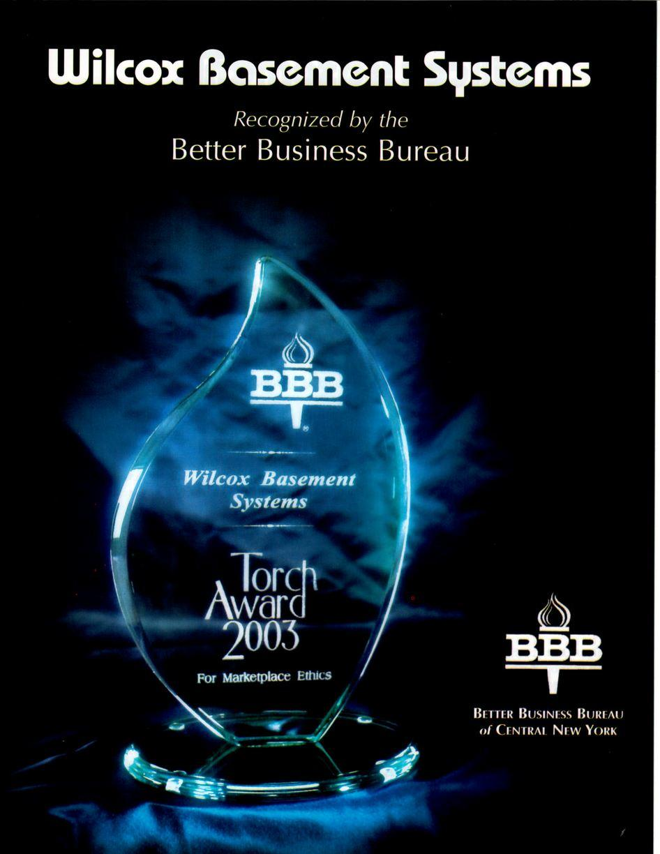Better Business Bureau Marketplace Ethics Torch Award