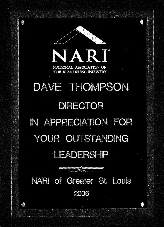 2006 NARI Outstanding Leadership