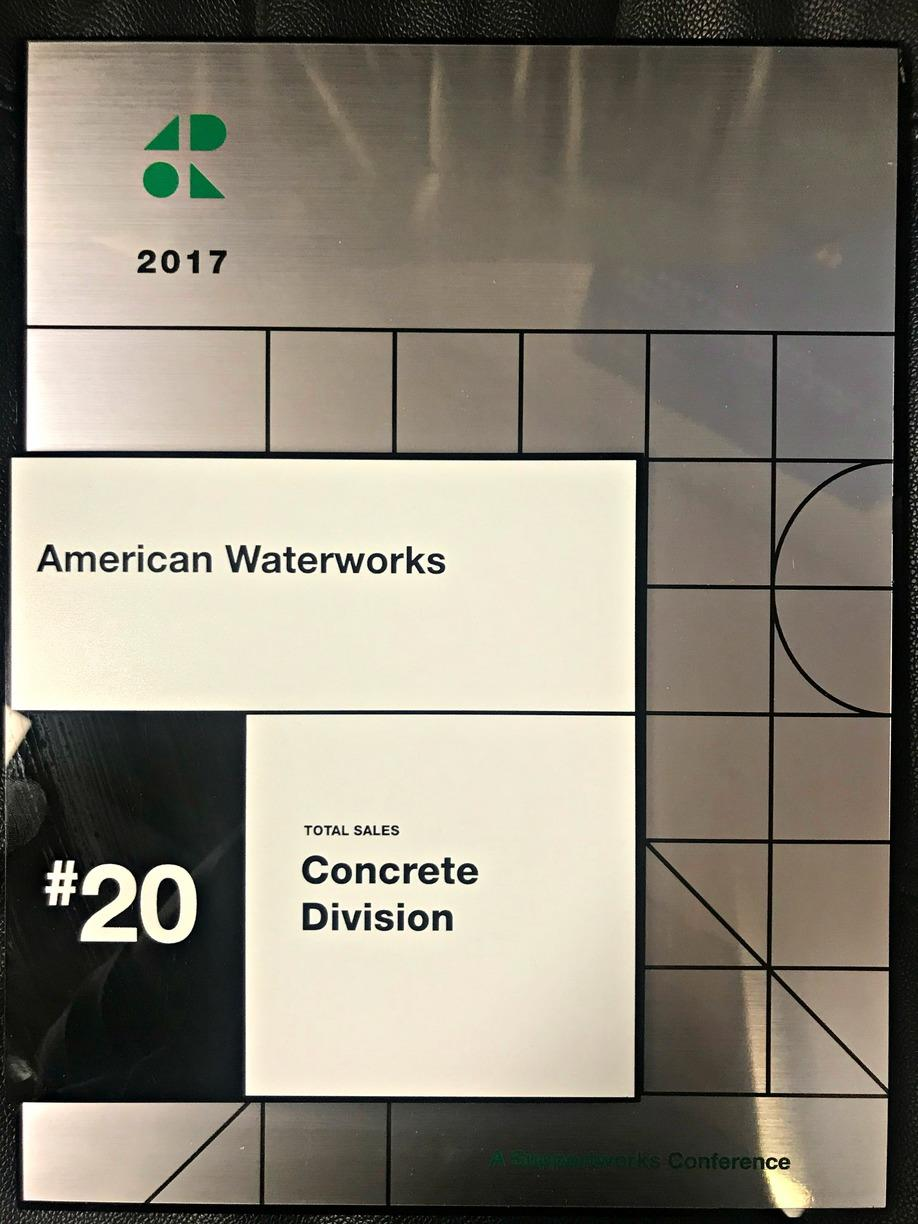 #20 Dealer for Total Sales in the Concrete Division