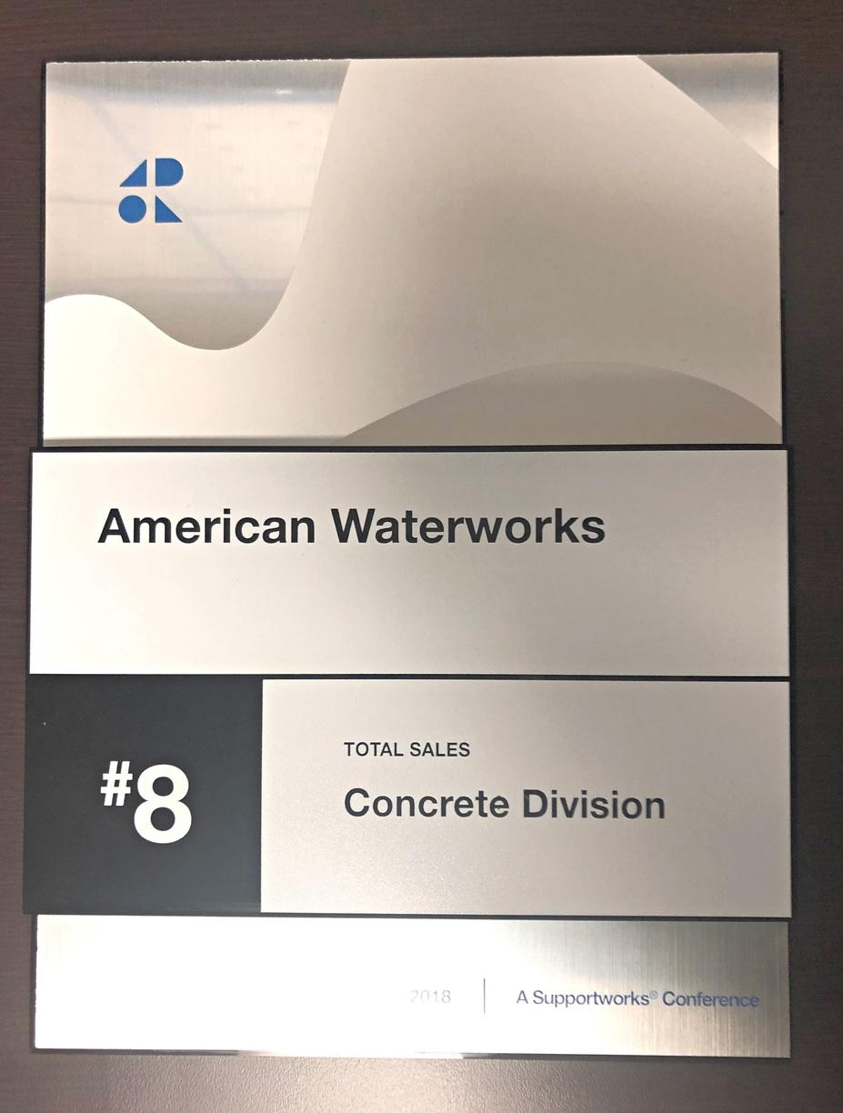 #8 Dealer for Total Sales in the Concrete Division