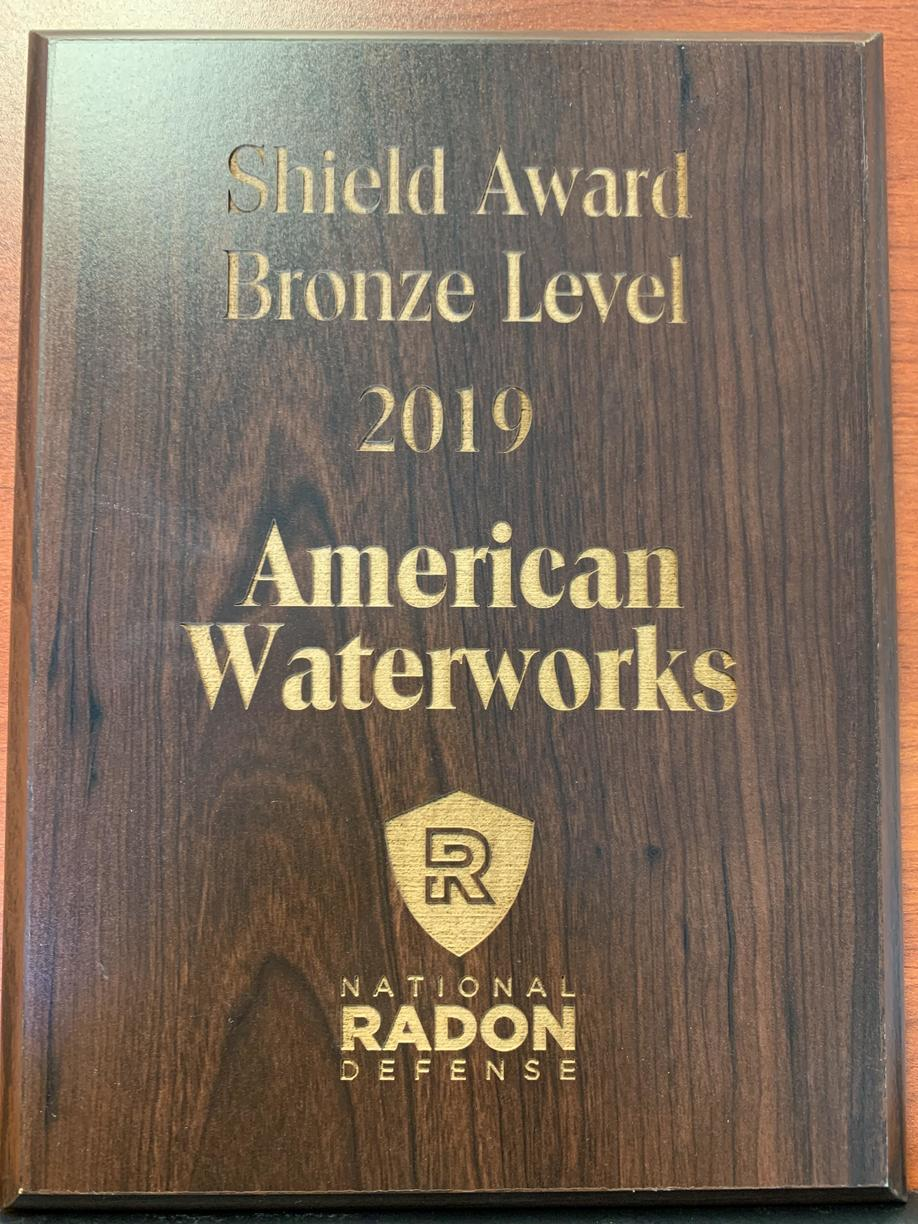 National Radon Defense Shield Award- Bronze Level
