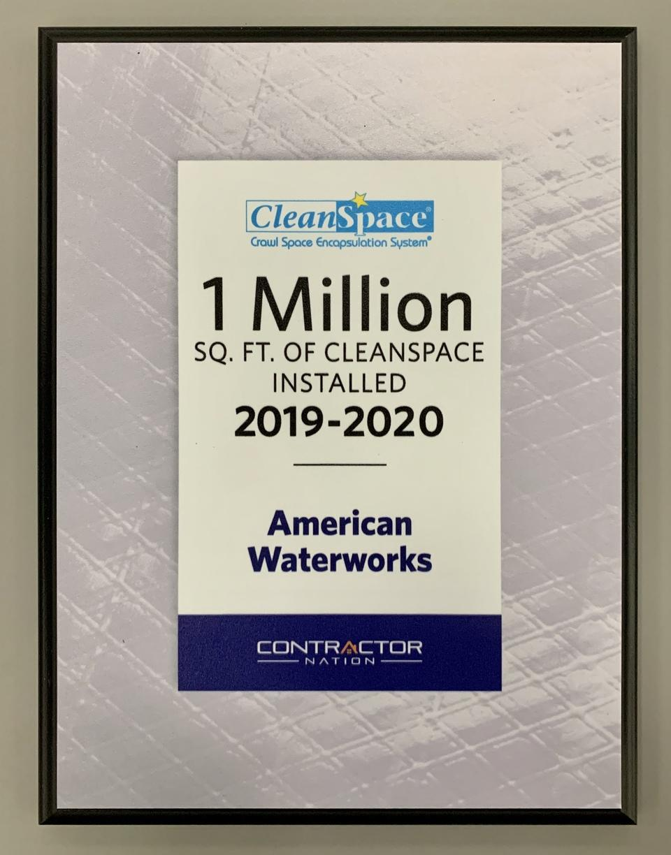 1 Million Square Feet of CleanSpace Installed in 2019-2020