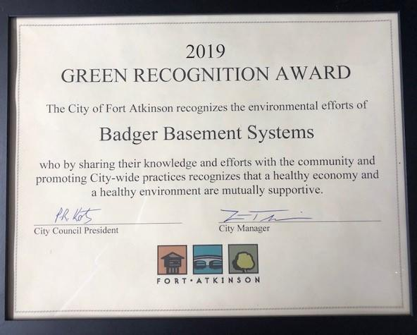 Green Recognition Award