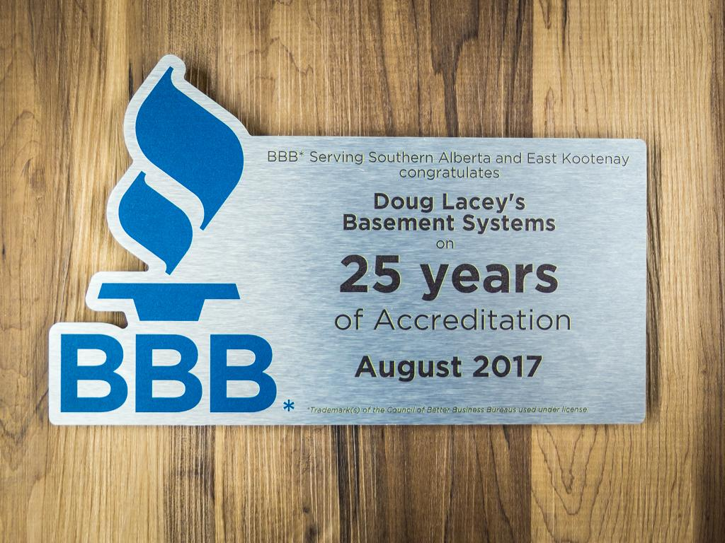 BBB 25 Year Accreditation