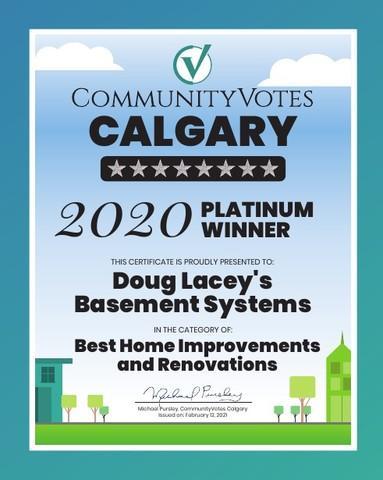 2020 Platinum Winner - CommunityVotes Calgary