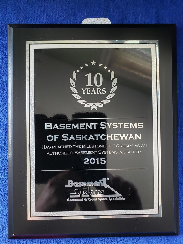 10 YEAR AWARD