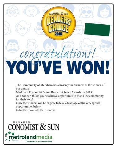 Readers Choice Award Winner 2015