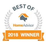 HomeAdvisor Best of 2018 Winner
