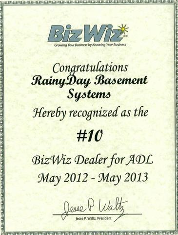 Rainy Day is Awarded for Sales in 2013