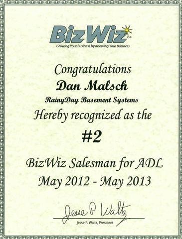 Dan Malsch is Awarded as a Salesman
