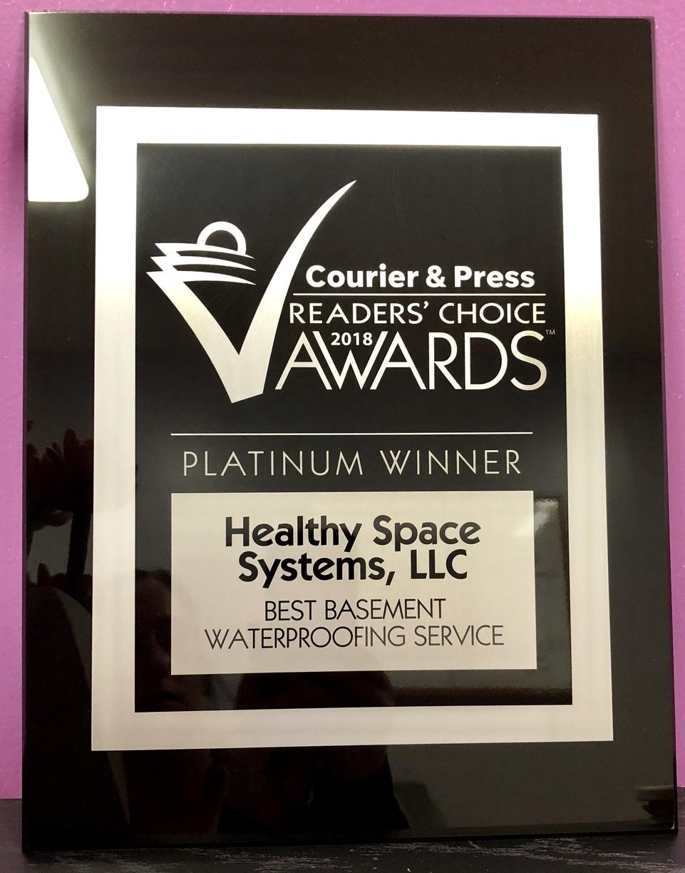 PLATINUM Award for Best Basement Waterproofing Service