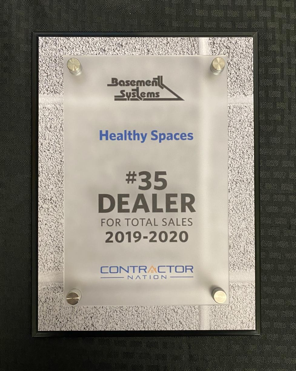 Healthy Spaces  Earns #35 Dealer from Contractor Nation