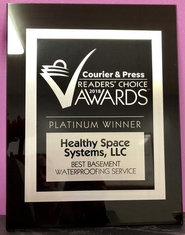 PLATINUM Award for Best Basement Waterproofing Service