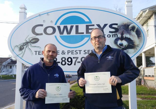 Scott Dellett and Chris Fyfe Achieve Associate Certified Entomologist  (ACE) Status