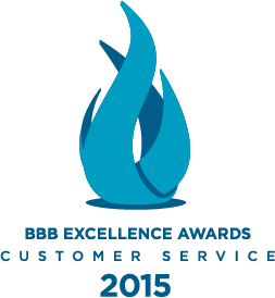 BBB's Excellence in Customer Service award