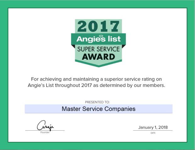2017 Super Service Award!