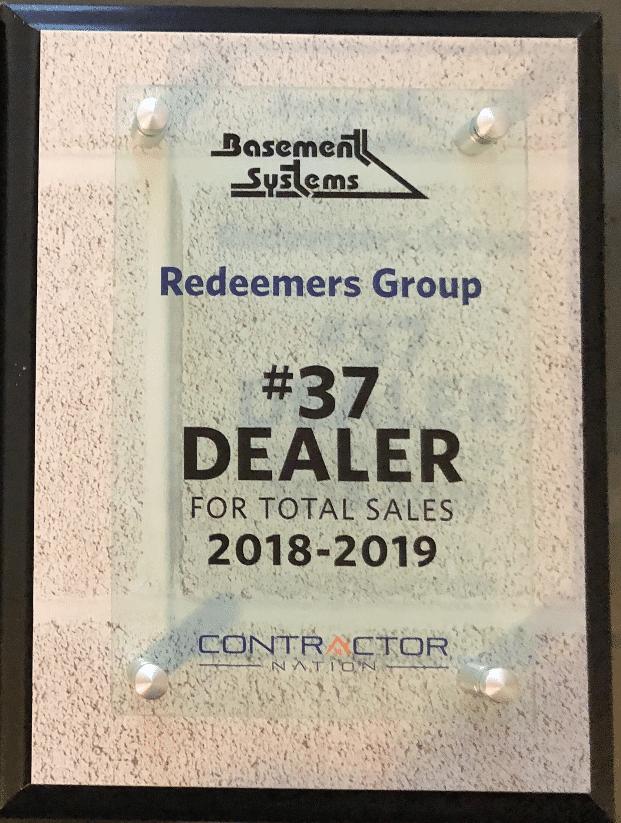 #37 Dealer of Total Basement System Sales