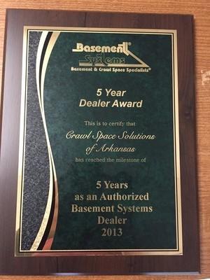 5 Year Dealer Award