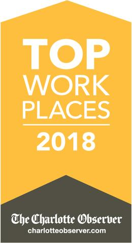 Top Place to work Charlotte 2018