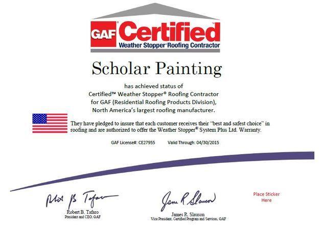 GAF Certified Certificate