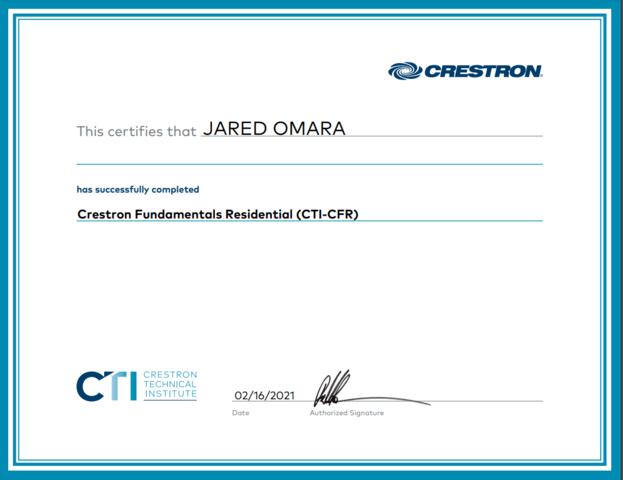 Crestron Fundamentals Residential (CTI-CFR)