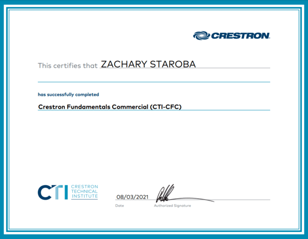 Crestron Fundamentals Commercial (CTI-CFC)