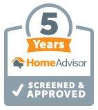 HomeAdvisor 5 Year Award