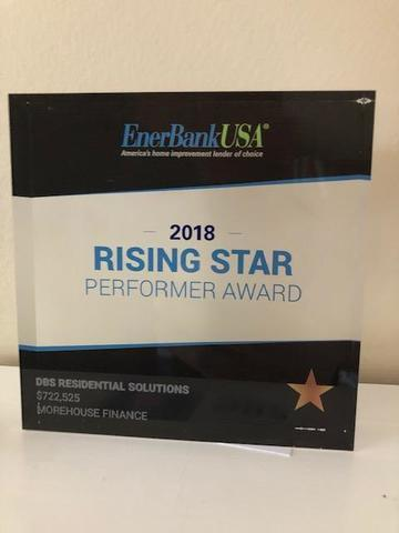 DBS Receives 2018 EnerBank Rising Star Award for Financing