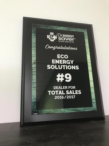 Eco Energy Solution is Top 10 in Sales Across the Country!