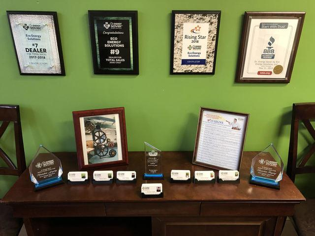Dr. Energy Saver Award Table!