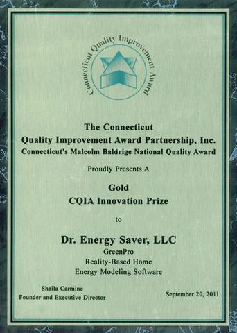 Dr. Energy Saver Network Recipients of the Quality Improvement Award