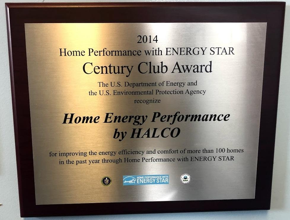 2014 Home Performance with ENERGY STAR® Century Club Award
