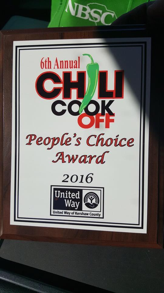 2016 United Way of Kershaw County Chili Cook Off