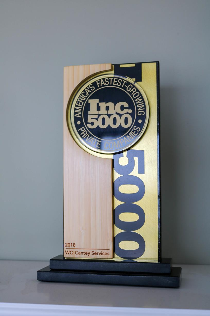 Cantey is One of Inc. Magazine's 5000 Fastest Growing Companies