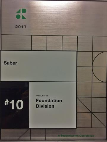 Saber Recognized as 10th Top Foundation Dealer in Supportworks Network