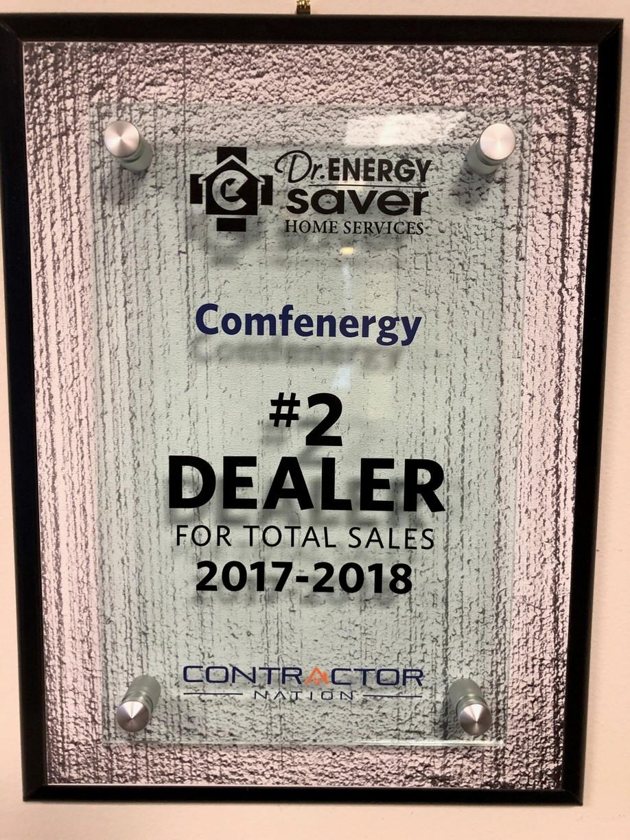 #2 Dr. Energy Saver Dealer in the Country