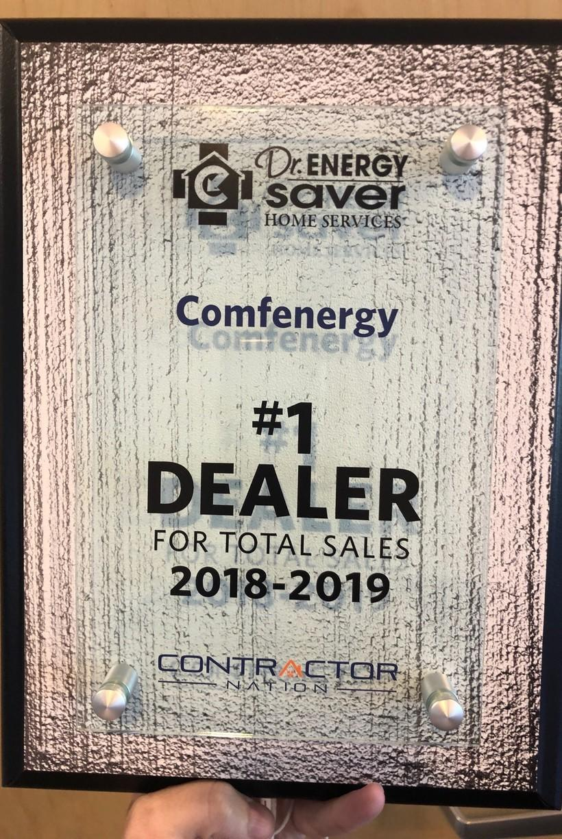 #1 Dealer in the Country for Dr. Energy Saver