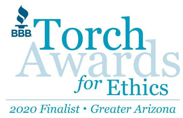 Finalist - 2020 BBB's Torch Award for Ethics