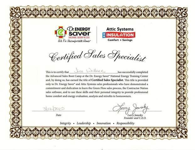 Certified Sales Specialist - Jim Wallace
