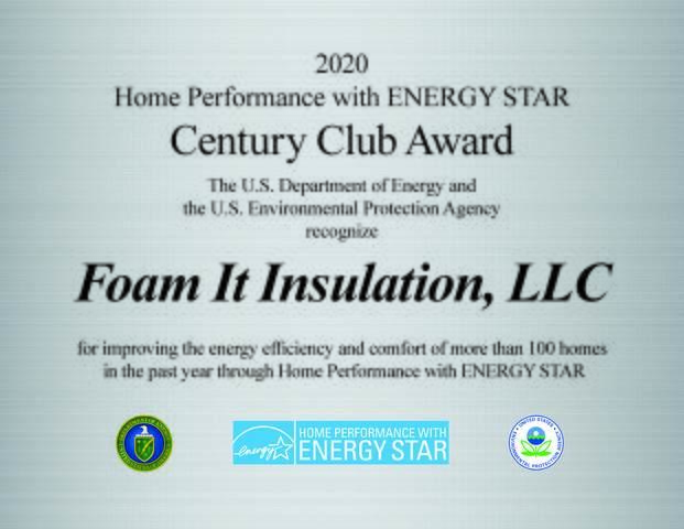 Home Performance with Energy Star Century Club Award 2020