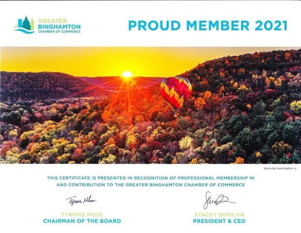 Greater Binghamton Chamber of Commerce - Member 2021