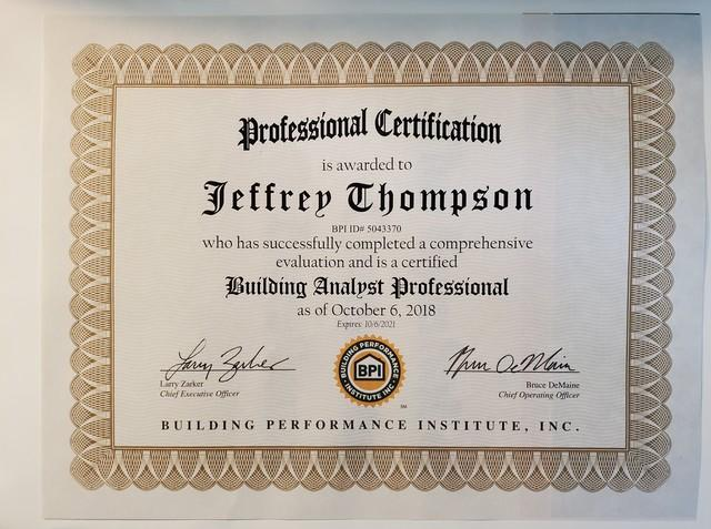Building Analyst Professional