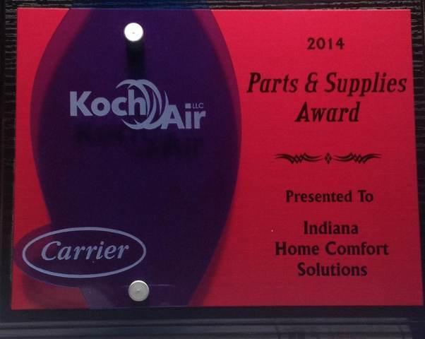 Parts & Supplies Award