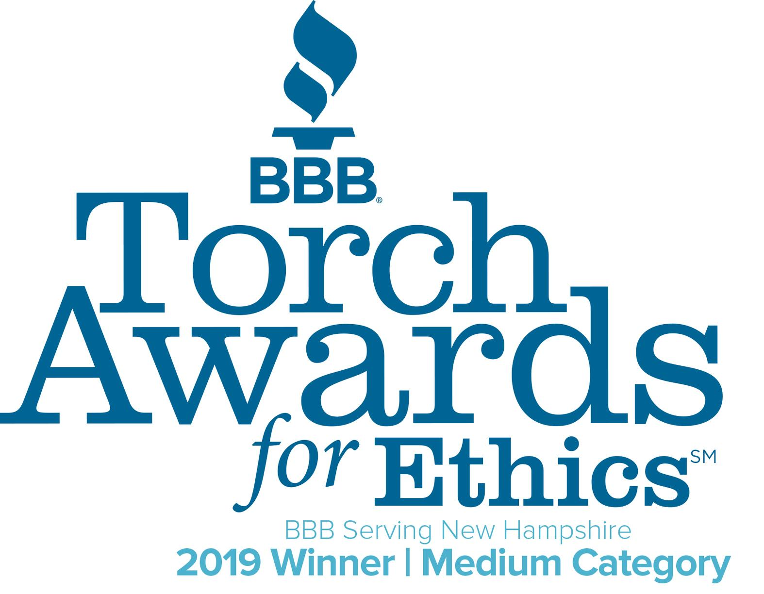 Recipient of the 2019 Torch Awards for Marketplace Ethics