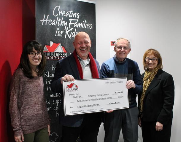 $2,900 Klingberg Family Centers Donation