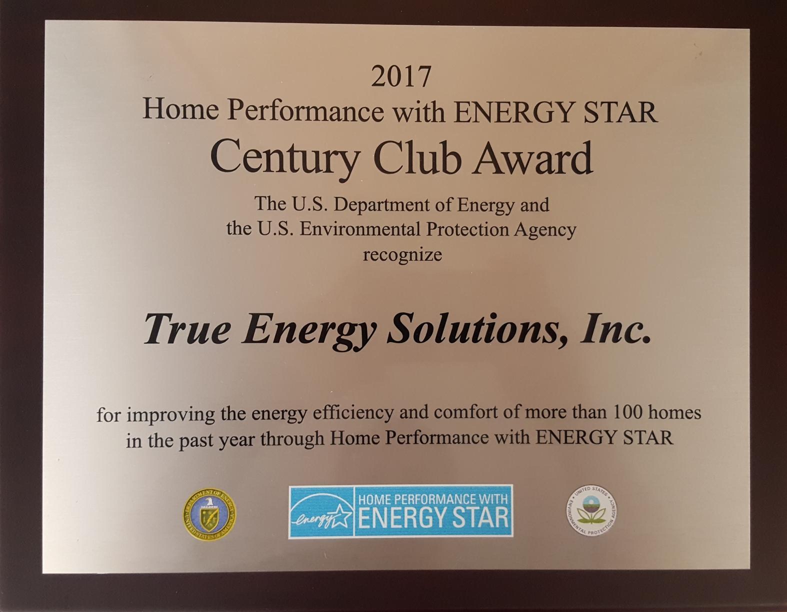 2017 Century Club Award